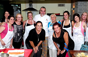 40 BC survivors and Olympic athletes participated in a cooking workshop led by the well known Israel chef Shaul Ben-